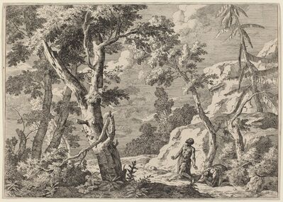 Marco Ricci, 'Wilderness Landscape with Two Hermits', 1730