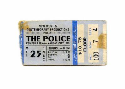 Andy Gershon, 'Concert Ticket (Police 1982)', 2018