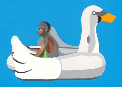 Derrick Adams, 'Boy on Swan Float ', 2020