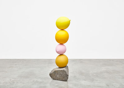 Gimhongsok, 'Untitled (Short People) Yellow, Yellow, Pink, Yellow', 2018
