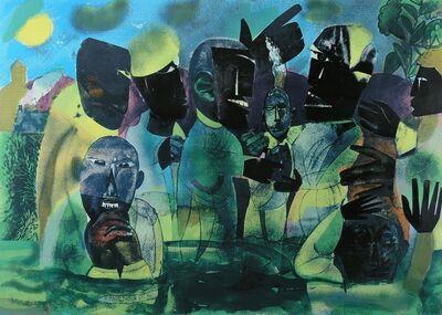 Romare Bearden, 'THE BAPTISM', 1975