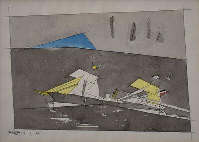 Lyonel Feininger, 'Ship with Swedish Flag II | Schiff mit Schwedischer Flagge II', 1935