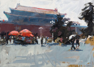 James Hart Dyke, 'Wumen Gate and umbellas, Forbidden City,           Beijing', 2014