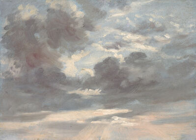 John Constable, 'Cloud Study: Stormy Sunset', 1821-1822