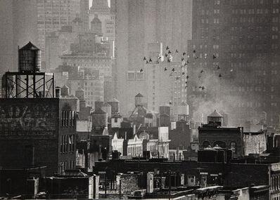 André Kertész, 'Birds in Flight and Cityscape', 1971