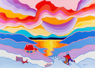 Ted Harrison, 'Dawson City', 1989