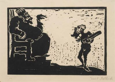 Max Beckmann, 'Dame mit Knabe', 1923