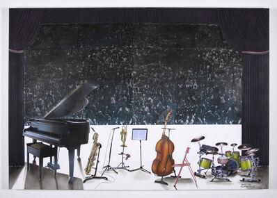 Sam Nhlengethwa, 'Waiting for the Jazz Band', 2018