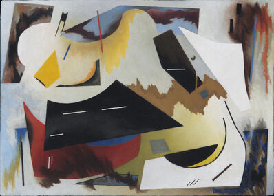 Alice Trumbull Mason, 'Colorstructive Abstraction (white, black, red, blue & yellow)', 1944