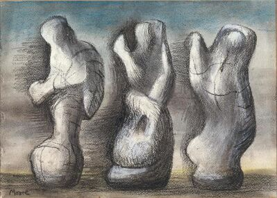 Henry Moore, 'Three Ideas for a Sculpture', 1982