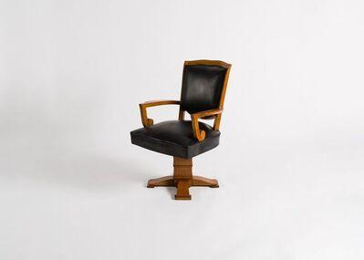 Jules Leleu, 'Swivel Desk Chair ', ca. France-circa 1946