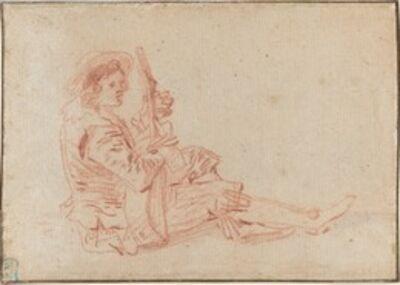Jean-Antoine Watteau, 'Seated Guitarist [recto]'