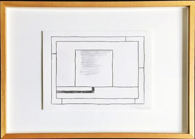 Peter Halley, 'Untitled original drawing, gifted by Peter Halley to artist Bill Radawec', ca. 1990