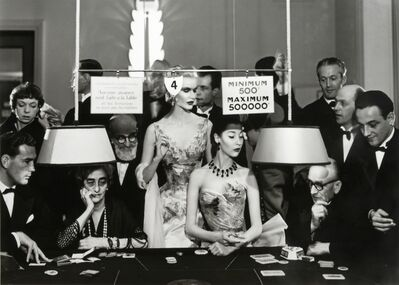 Richard Avedon, 'Sunny Harnett and Alla, Evening Dresses by Balmain, Casino, Le Touquet, August 1954', 1954