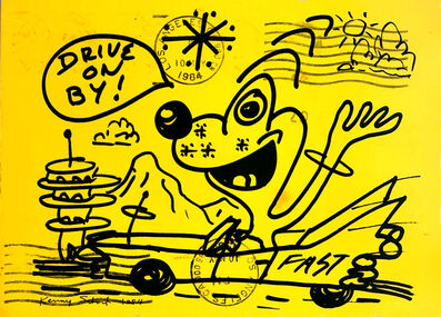 Kenny Scharf, 'Kenny Scharf at Gagosian Gallery 1984 announcement ', 1984