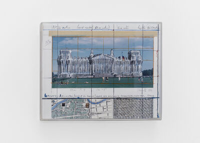 Christo, 'Wrapped Reichstag (project for Berlin), Platz der Republik, Brondenburger Tor, Spree', 1994