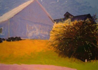 Wolf Kahn, 'Barn and Forsythia III', 2003