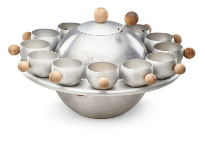 Russel Wright, 'Saturn punch set, bowl, ladle, twelve cups, tray, USA', 1930s: