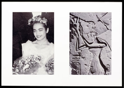 Lorraine O'Grady, 'Miscegenated Family Album (Ceremonial Occasions I), L: Devonia as Matron of Honor; R: Nefertiti performing a lustration', 1980/1994