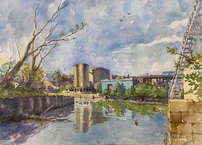 Derek Buckner, 'Canal and Silos', 2020