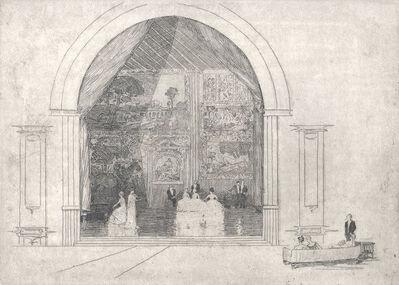 Arthur Streeton, 'The Concert (Ballroom, Bamburgh Castle)', ca. 1910