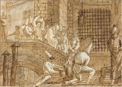 Giovanni Domenico Tiepolo, 'The Prison Visit', 1797/1804