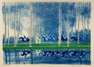 Andre Brasilier, 'Paysage en Bleu (Landscape in Blue)', ca. 1993