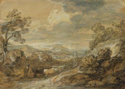Thomas Gainsborough, 'Herdsman and Cattle', 1770-1780