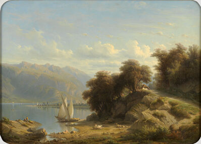 François Diday, 'Genfersee bei Vevey', not dated