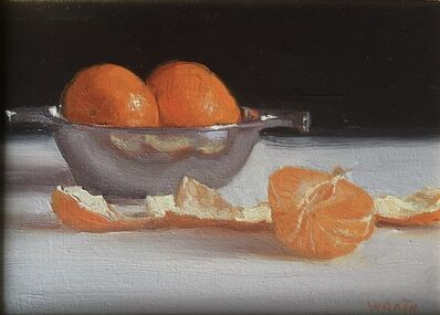 Robbie Wraith, 'Clementines, Silver Bowl', 2019