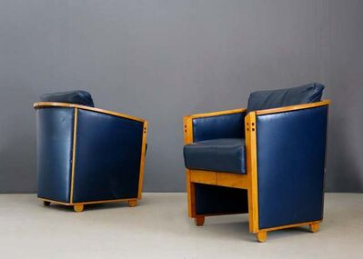 "Giorgetti, 'Pair of Armchairs by Umberto Asnago ""project series"" for Giorgetti, 1990', 1990"