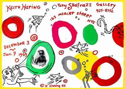 Keith Haring, 'Keith Haring Tony Shafrazi exhibition poster 1989', 1989