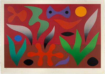 John Coburn, 'Flame Tree; Garden Of Desire; Summer Garden; Wasteland', 1976
