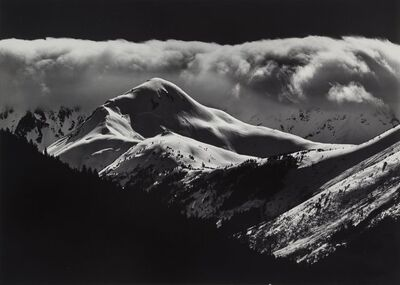 Brett Weston, 'Cloud Over Mountain, Alaska', 1973
