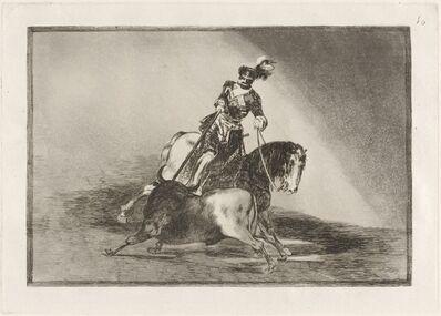 Francisco de Goya, 'Carlos V. lanceando un toro en la plaza de Valladolid (Charles V Spearing a Bull in the Ring at Valladolid)', in or before 1816