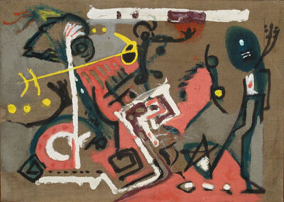 Jackson Pollock, 'Untitled (Composition on Brown)', ca. 1945