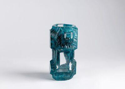 Daum, 'Aquamarine Vase', France-circa 1975