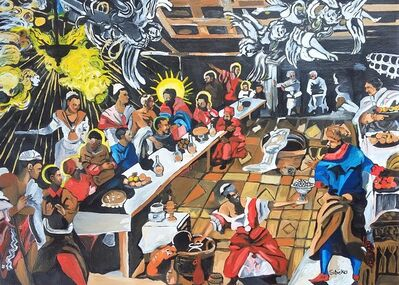 Thabo Sibeko, 'African Renaissance series - re imagining The Last Supper by Tintoretto', 2019