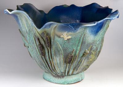 Carol Berger, 'Preserving Landscapes- Water's Edge- Ceramic, blues, greens, flora, fauna', 2020