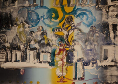Romare Bearden, 'Introduction for a Blues Queen (Uptown at Savoy), from Jazz Series', 1979