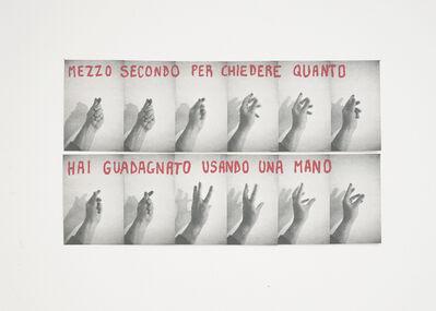 Giuseppe De Mattia, 'Wall film - money hand', 2021