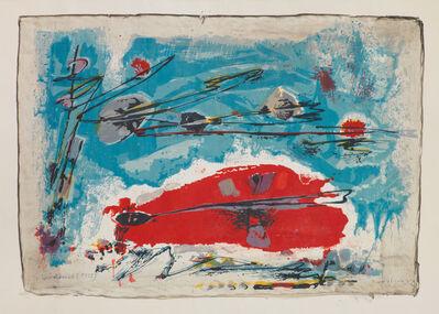 Gerhard Hoehme, 'ROT LIEGT UNTER BLAU', 1955