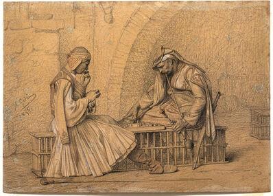 Jean-Léon Gérôme, 'Two Soldiers Playing Checkers', 1856