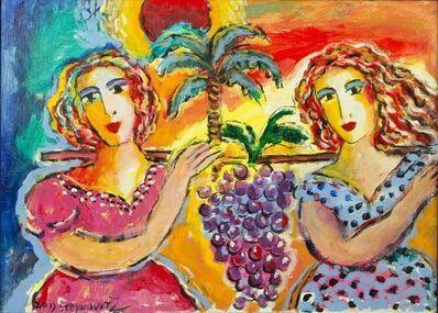 Zammy Steynovitz, 'Zamy Steynovitz Beauties Carrying A Bunch of Grapes Original Oil', 20th Century