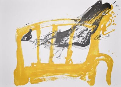 Antoni Tàpies, 'Chaise et pied', 1980-1990