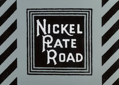 Robert Cottingham, 'Nickel Plate Road', 1987