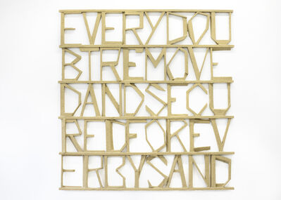 Gerard Koek, 'Words 27', 2013