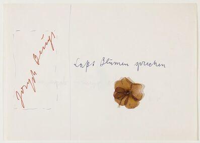 Joseph Beuys, 'Laßt Blumen sprechen', 1974