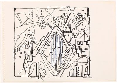 Eduardo Paolozzi, 'Two untitled drawings'