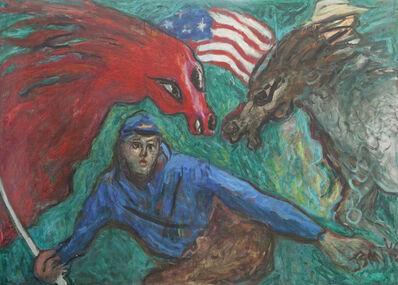 Betty Herbert, 'Civil War Series: Blue at Bay', 1990